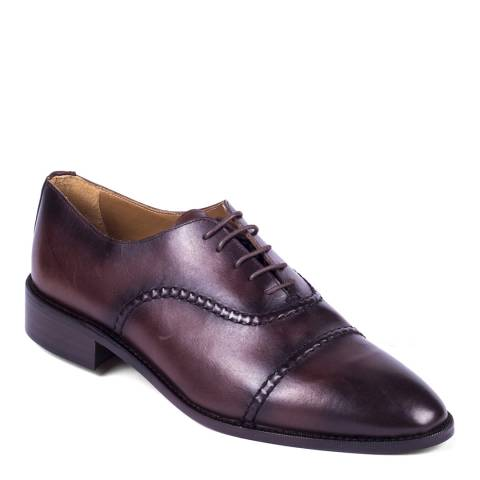 Ortiz & Reed Brown Leather Norwegian Seam Oxford Shoes