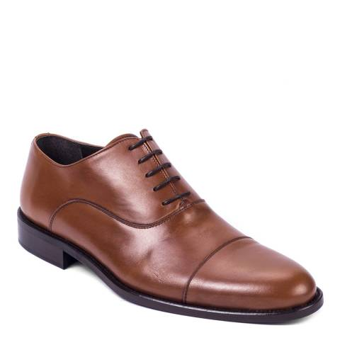 Ortiz & Reed Tan Brown Leather Magna Oxford Shoes