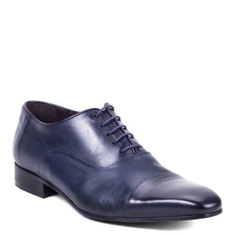 Ortiz & Reed Blue Leather Valerio Oxford Shoes