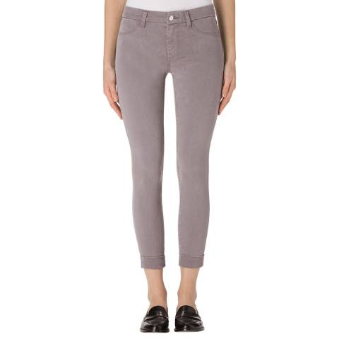 J Brand Groove Grey Anja Mid Rise Cuffed Crop Jeans