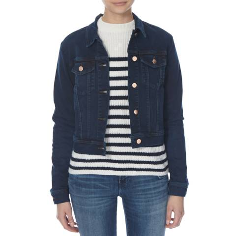 J Brand Throne Blue Harlow Shrunken Jacket