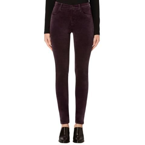 J Brand Aubergine Purple Maria High Rise Skinny Jeans