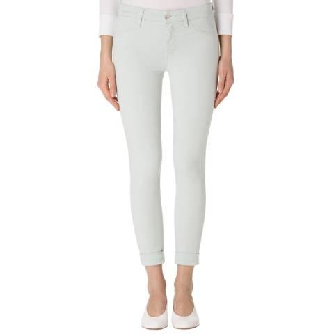 J Brand Pale Lichen Green Anja Mid Rise Cuffed Crop Jeans
