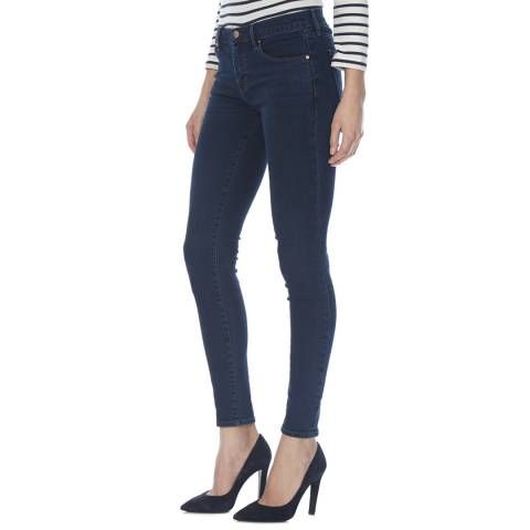 J Brand Throne Navy 620 Mid Rise Skinny Stretch Jeans