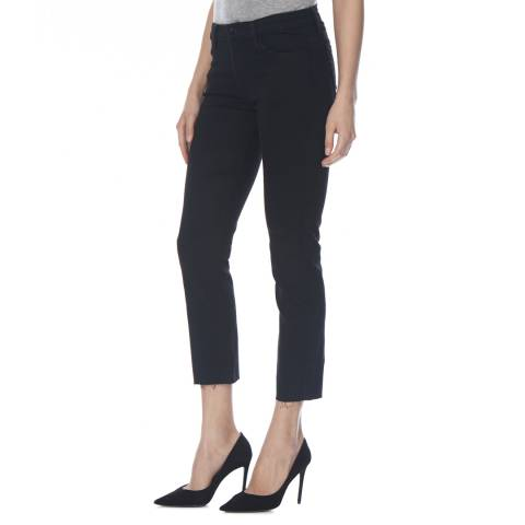 J Brand Vanity Destruct Black Amelia Cropped Stretch Jeans