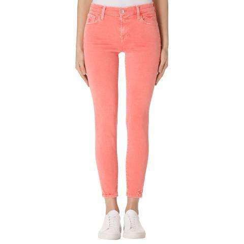 J Brand Glowing Pink 835 Mid Rise Crop Skinny Jeans