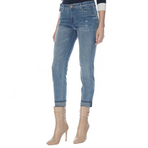 J Brand Sentimental Blue Johnny Mid Rise Boyfit Jeans