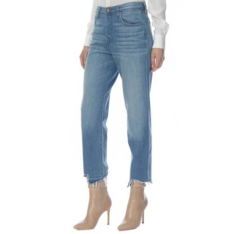 J Brand Revamp Blue Ivy High Rise Crop Straight with Jagged Hem