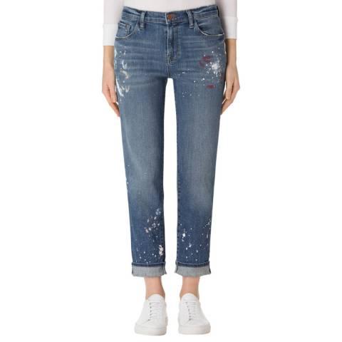 J Brand Peace Blue Johnny Mid Rise Boyfit Jeans