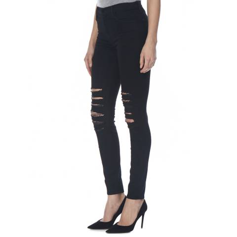 J Brand Black Heart Maria High Rise Skinny Stretch Jeans