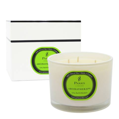 Parks London Lime/Basil And Mandarin Three Wick Aromatherapy Candle