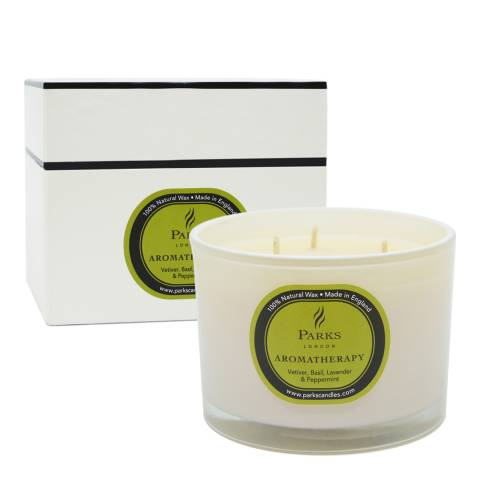Parks London Vetiver/Lavender And Peppermint Three Wick Aromatherapy Candle