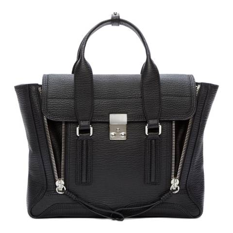 3.1 PHILLIP LIM Black Nickel Medium Satchel
