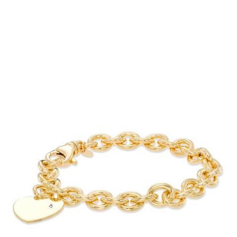 Chloe Collection by Liv Oliver Rose Gold Heart Charm Bracelet