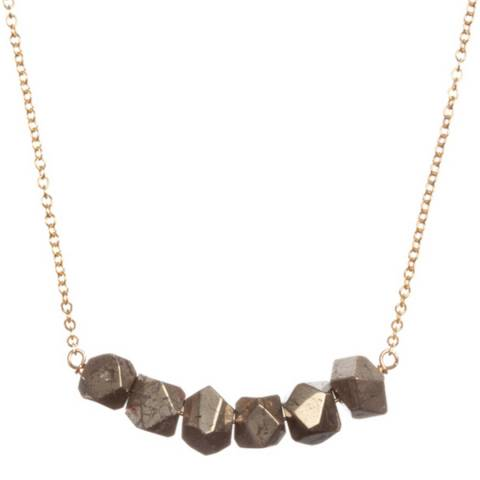 Chloe Collection by Liv Oliver Gold Geometric Rockstar Necklace