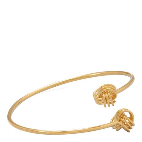 Chloe Collection by Liv Oliver Gold Double Love Knot Bangle