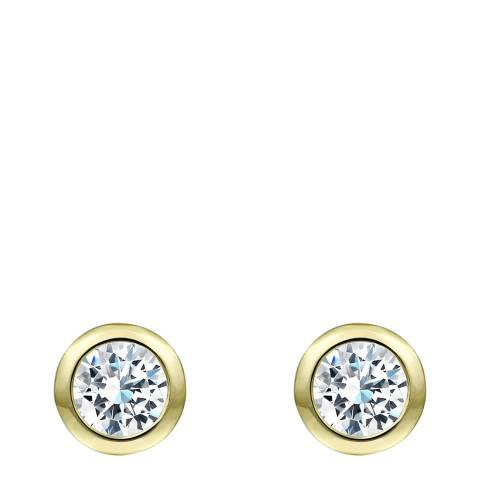 Chloe Collection by Liv Oliver Gold Bezel Stud Earrings