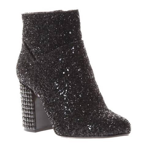 Michael Kors Black Arabella Glitter Embellished Ankle Boots
