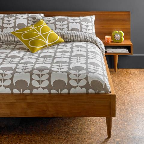 Orla Kiely Mushroom Tulip Flannel Super King Duvet Cover