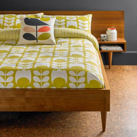 Orla Kiely Dandelion Tulip Flannel Housewife Pillowcase Pair