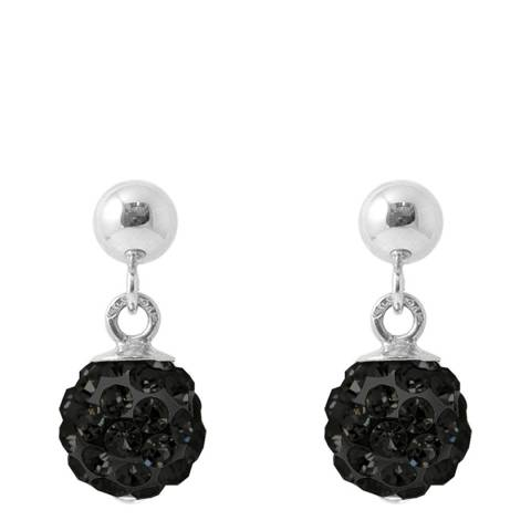 Wish List Silver/Black Crystal Earrings