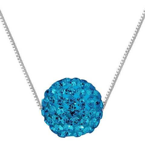 Wish List Silver/Blue Crystal Necklace