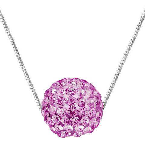 Wish List Silver/Pink Crystal Necklace