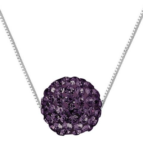 Wish List Silver/Purple Crystal Necklace