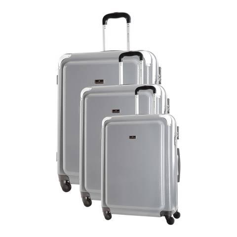 Platinium Set of 3 Grey Spinner Robinson Suitcases 50/60/73cm