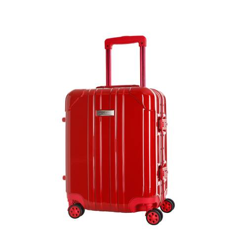 Platinium Red Spinner Keihley Cabin Suitcase 46cm