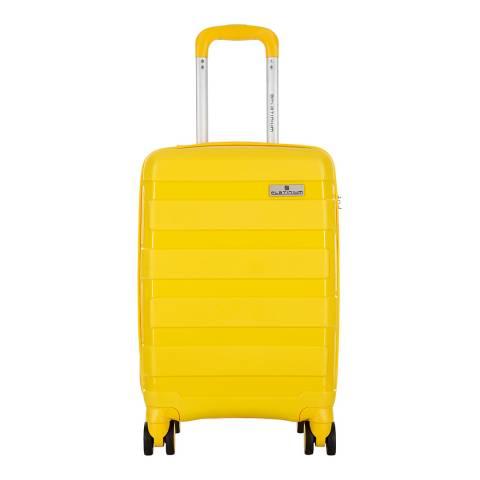 Platinium Yellow Spinner Berman Suitcase 70cm