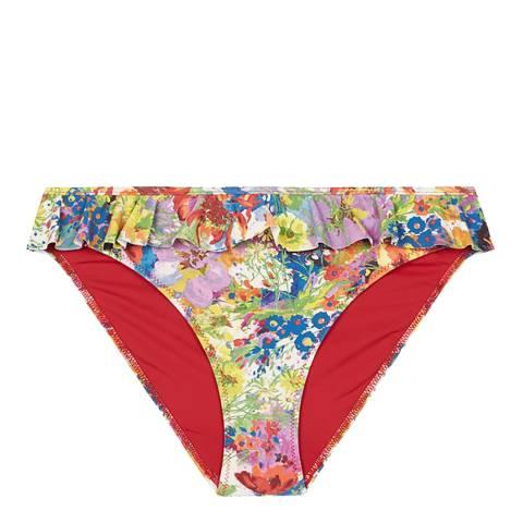Stella McCartney Yellow Iconic Prints Classic Bikini Briefs