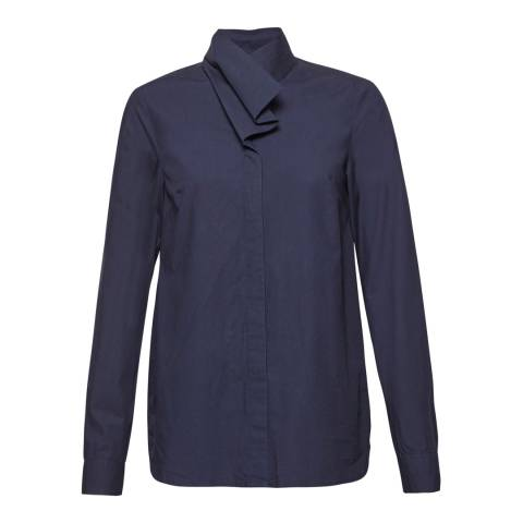 Great Plains Classic Navy Penny Shirting Cotton Shirt