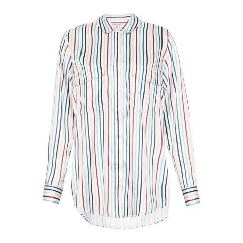Great Plains Cream/Redcurrant Rainbow Stripe Pocket Shirt
