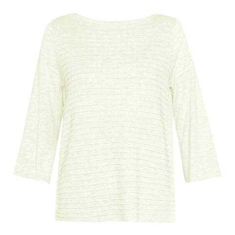 Great Plains Birch Cream Lattice Knit Boat Neck Jumper