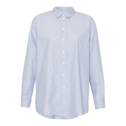 Great Plains Wisteria Blue Wall Street Cotton Shirt