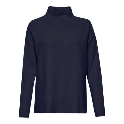 Great Plains Classic Navy Mikita Milano Polo Neck Jumper