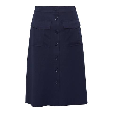 Great Plains Classic Navy Freya Brushed Suiting Skirt