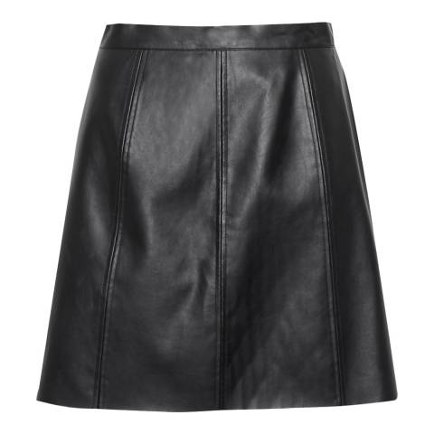 Great Plains Black Matilda Pleather Mini Skirt