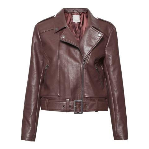Great Plains Dark Paprika Red Hayden Biker Jacket