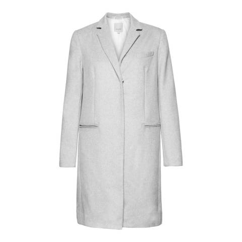 Great Plains Pale Oyster Melange Nipper Wool Coat