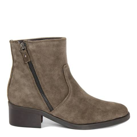 Eye Taupe Suede Zip Ankle Boots