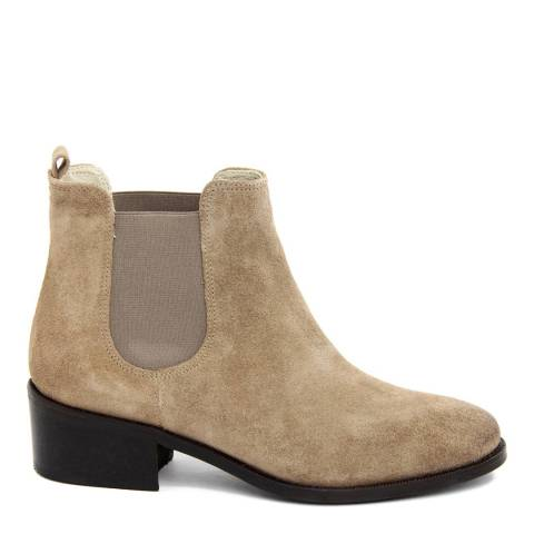 Eye Beige Suede Low Heeled Chelsea Boots