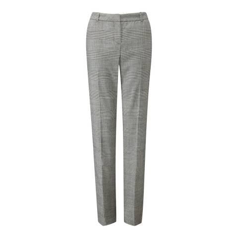 Pure Collection Prince of Wales Slim Leg Wool Blend Trousers