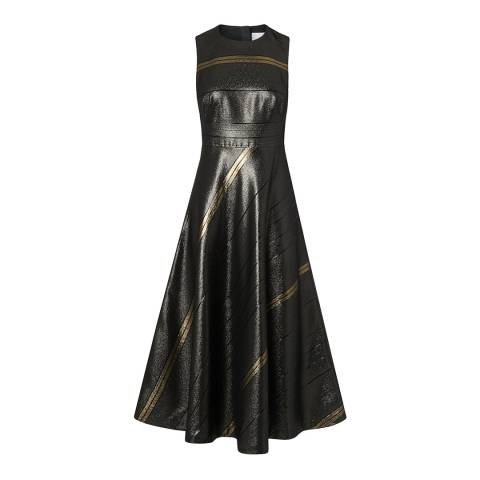 L K Bennett Black/Gold Polly Dress