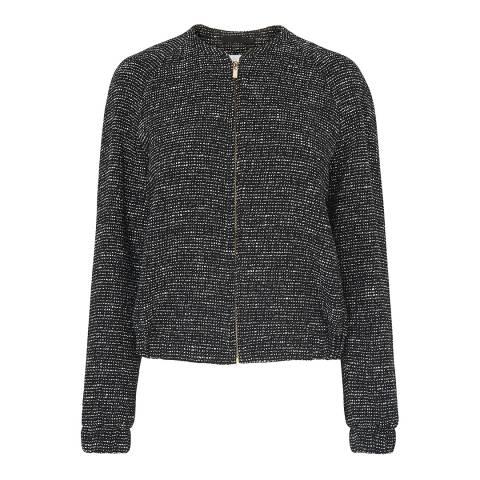 L K Bennett Black Shelby Tweed Cotton Jacket