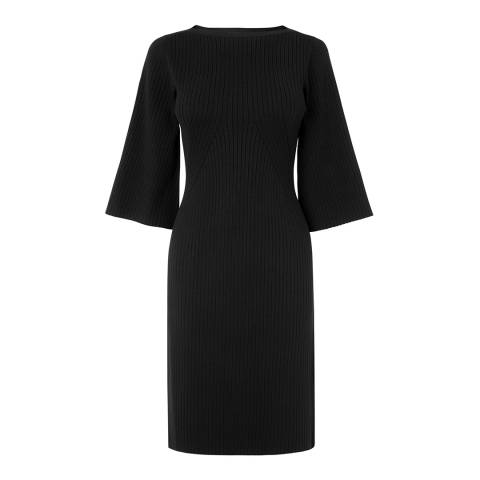 L K Bennett Black Ribbed Tonya Dress