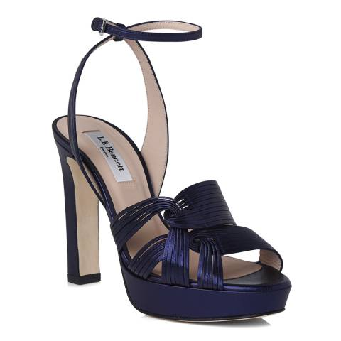 383d1790b2 L K Bennett BLU-NAVY LEIGHTON - PLATFORM SANDA Heeled Sandals. prev