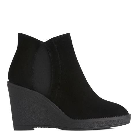 L K Bennett Black Suede Josephine Aankle Boots