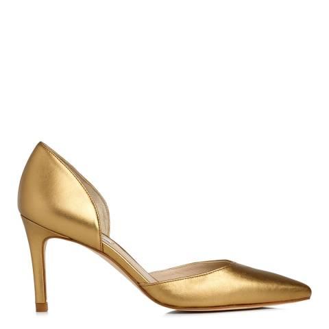 L K Bennett Bronze Metallic Leather Flossie Court Heels